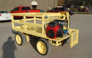 Gas propelled weight cart